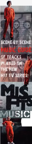 Misfits E4 TV Series Music Guide Banner